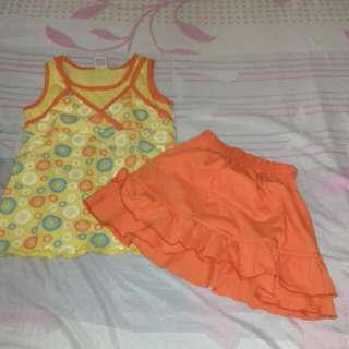 Blouse And Skirt For Kids