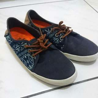 (二手) Vans Surf 系列 女生6.5/4/36.5/23 藍圖騰帆布鞋