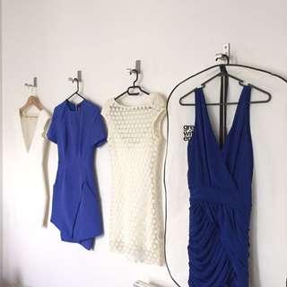 Bulk 4 x Dresses Dion Lee Nicholas The Label Size 6 Xs Retail Value $1850