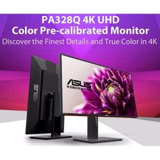 """Asus PA328Q 32"""" 6ms 3840*2160 4K UHD IPS LED Monitor"""