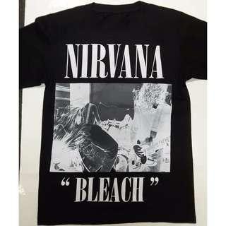 Nirvana - Bleach T-shirt Rock Band Merch Tee Foo Fighters (S/M(Sold)/L(Sold)/XL) Brand NEW