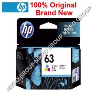 [Original] HP 63 Color Ink Cartridge for HP Printer Deskjet / Officejet / Envy