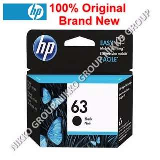 [Original] HP 63 Black Ink Cartridge for HP Printer Deskjet / Officejet / Envy