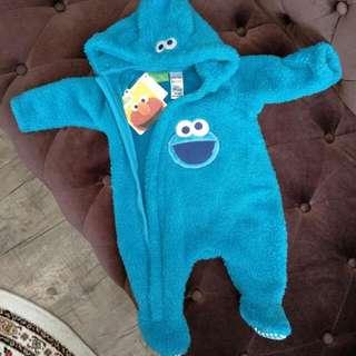 BNWT Baby Cookie Monster Onesie