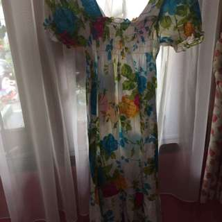 Casual Floral Dress / Gaun Santai Bunga