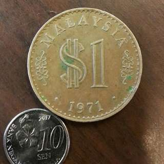 1971 $1 Malaysia