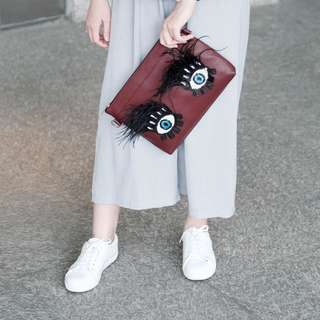 Maroon Eye Clutch