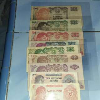 uang kertas kuno seri soedirman..take all
