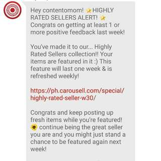 Thank you Carousell Team! :)
