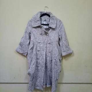 Silver Gray Vintage Coat