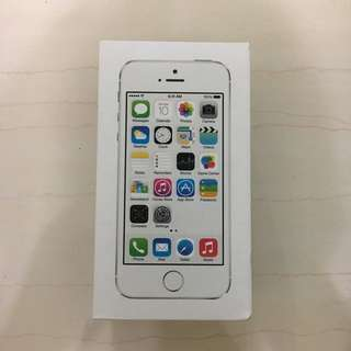 (BOX ONLY) Iphone 5s