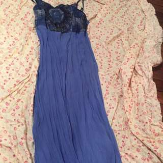 Sheer Boho Hippy Dress Sz 10 Or 12 Stretchy