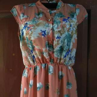 TURUN HARGA!!! DRESS LONG FLOWER