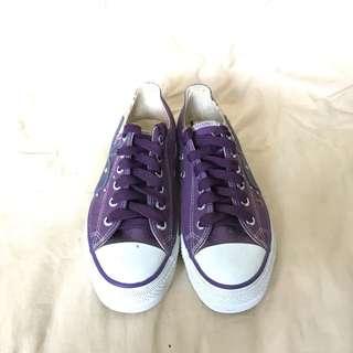 ✨全新免運費✨正品Play boy 紫色帆布鞋
