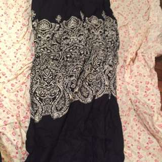 Sz 12 Maxi Skirt With Splits