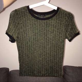 Dark Green Crop Top By Forever 21