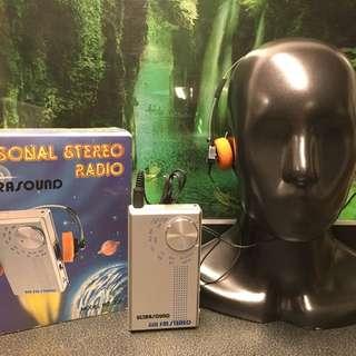 80s Walkman 型收音機全新