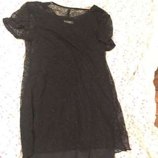 Sz 10 Lace & Slip Vintage Shift Dress