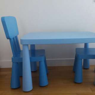 IKEA Kid's Study Table And 2 Chairs