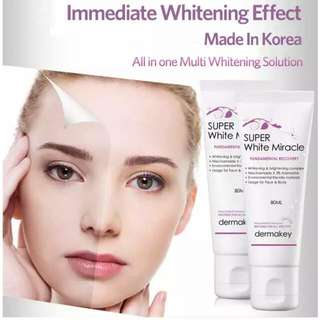 DERMAKIES Super White Miracle Cream/Lotion (80ml)
