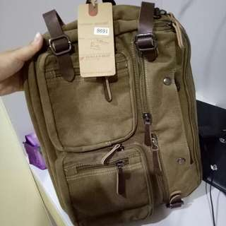 Ransel 3 In One Bahan Kanvas Tebal