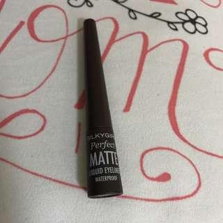 SilkyGirl Perfect Matte Brown Liquid Eyeliner Waterproof