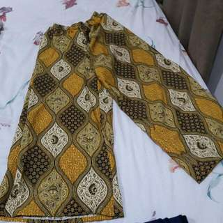 B13 - Yellow Batik Trousers
