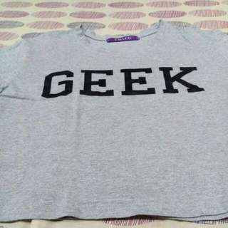 Gray Geek Cropped top!