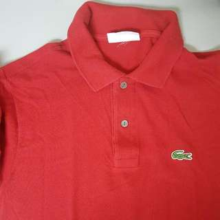 Red Lacoste Shirt