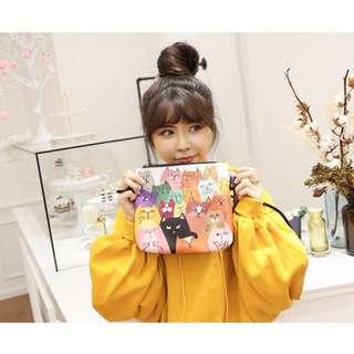 🚚 韓版 貓爪包 6款休閒包 卡通 猫咪包 單肩 斜跨包 手機包 塗押包 漫畫包 貓咪包