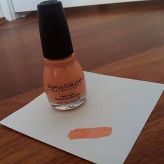 SinfulColors Professional Nail Colour in Let's Playa