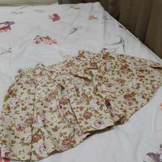 B17 - Thailand Flower Cream Skort