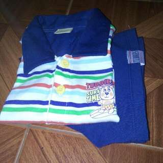 Terno Toddler Clothes Polo Shirt/short