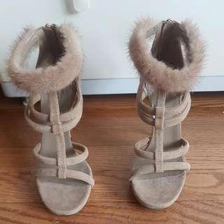 Gucci Mink Furr Heels