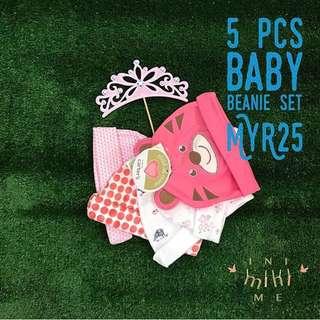 5pcs Baby Beanie Set