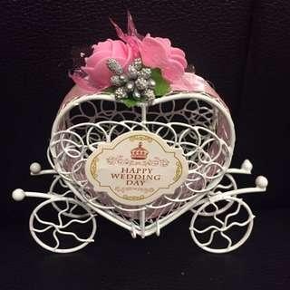 婚禮小物 愛心馬車喜糖盒*2
