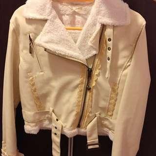 Liz Lisa 米白色 皮外套