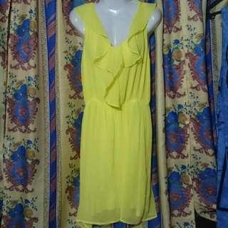 Bnew H&m Yellow Dress