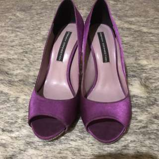 French Connection Purple Peep Toe Heels