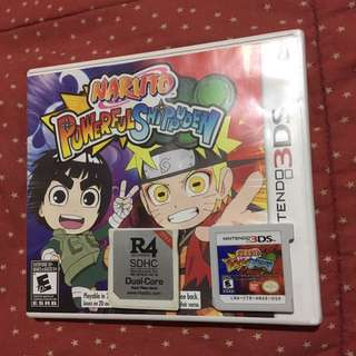 3ds games naruto powerful shippuden and r4