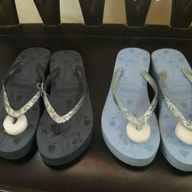 2 Pairs Of Slippers