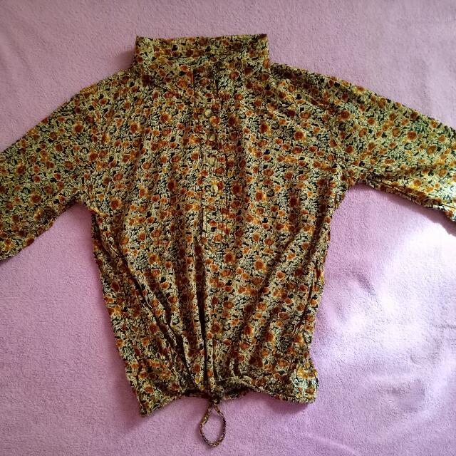 3/4 Floral Sleeve top