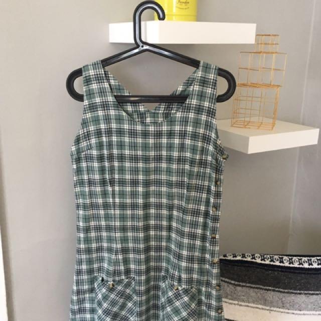 90's Plaid Dress