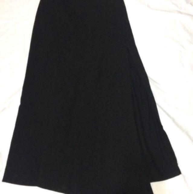 側背高衩長裙