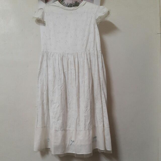 白色小花洋裝#好物任你換