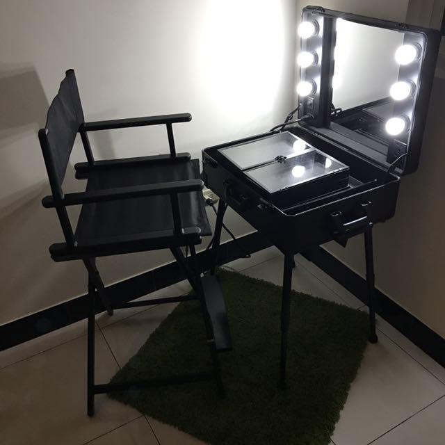 降價賣✨拉桿專業化妝燈行李箱組合(不含化妝折疊椅)
