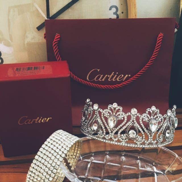 👑似麻雀變公主款 獨家 新秘飾品 水晶公主皇冠