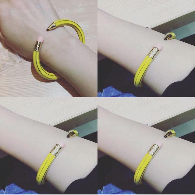 手環  手鏈 鉛筆形狀 鉛筆造型