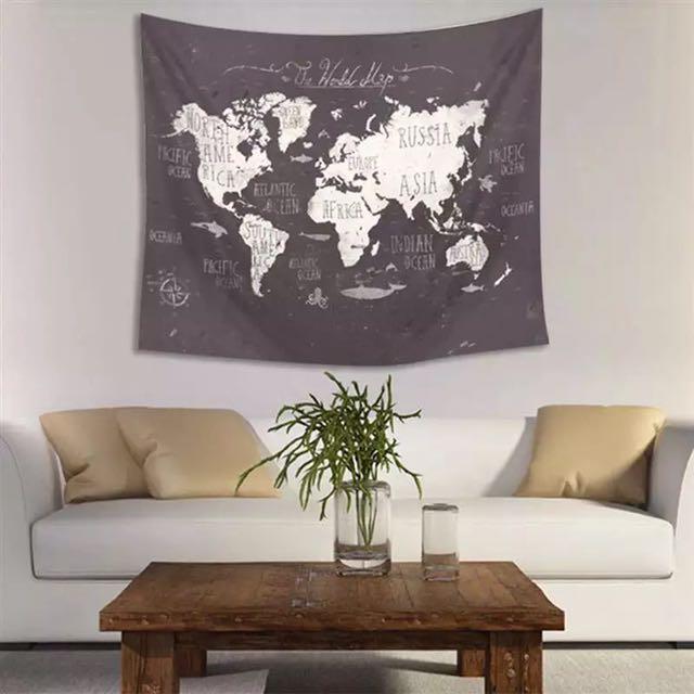 世界地圖壁毯 World Map Tapestry