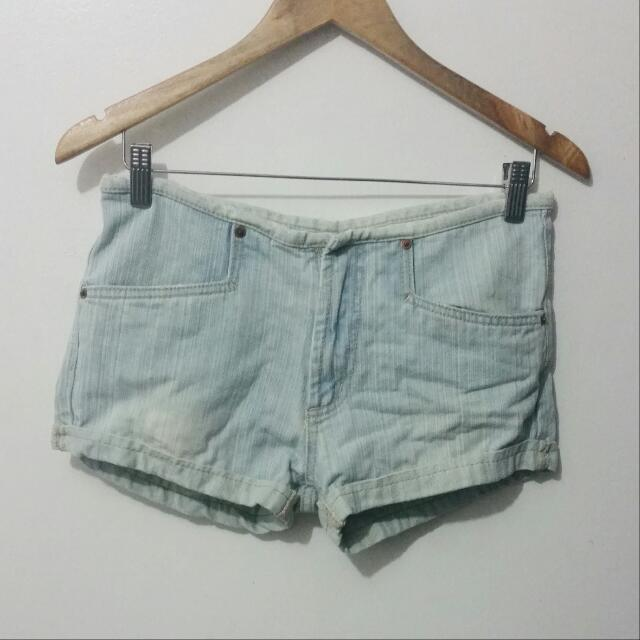 Acidwashed Denim Shorts